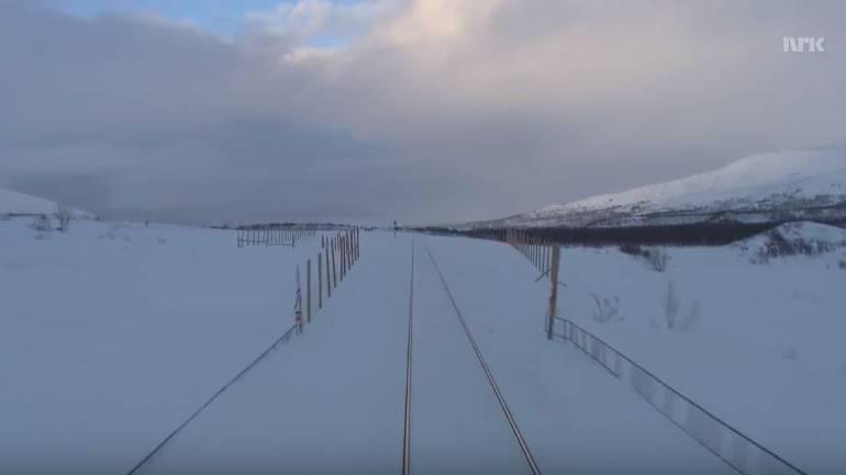 Jetzt live: Steigen Sie ein in den Zug durchs norwegische Winterwunderland