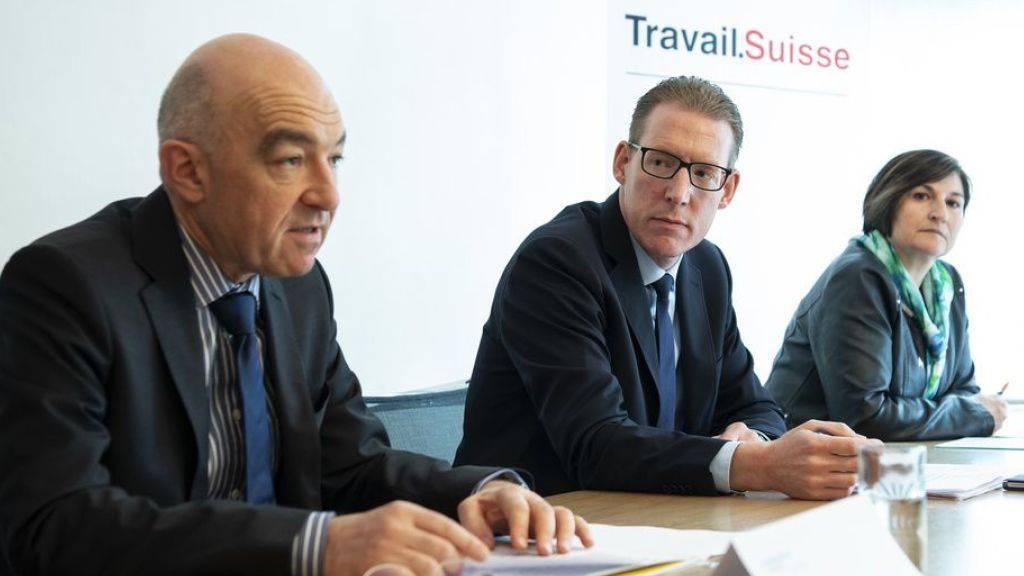 Vertreter von Travail.Suisse und dem Kaufmännischen Verband bezeichnen die AHV-Steuervorlage als «wichtigen Kompromiss» und empfehlen ein Ja am 19. Mai.