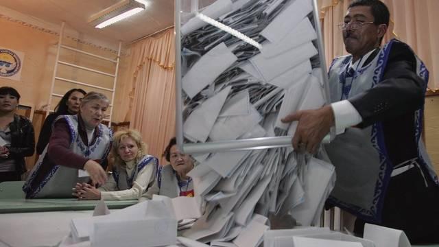 Nach der Parlamentswahl sollen in Kirgistan die Revolutionskräfte an die Macht (Archivbild)