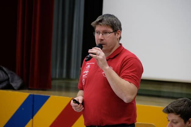 Lorenz Freudiger informiert über das Kantonalturnfest