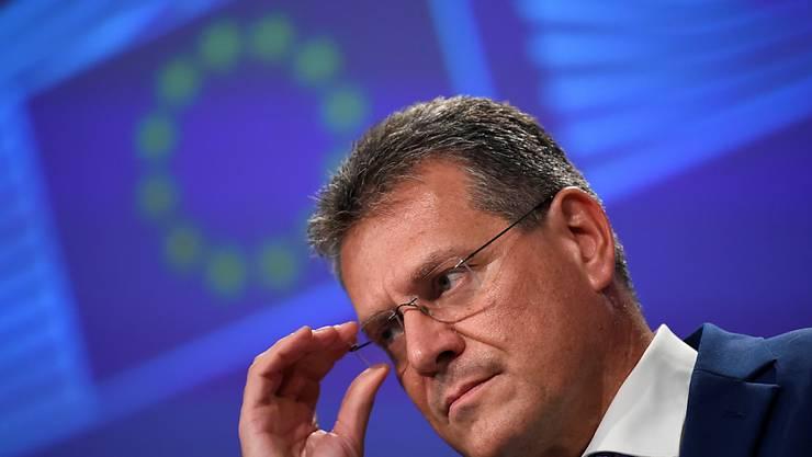 EU-Kommissionsvize Maros Sefcovic. Foto: John Thys/AFP Pool/AP/dpa