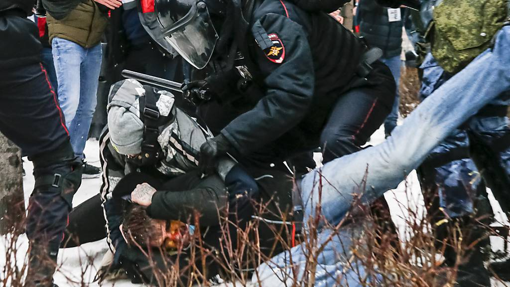 Mehr als 3400 Festnahmen bei Nawalny-Protesten in Russland