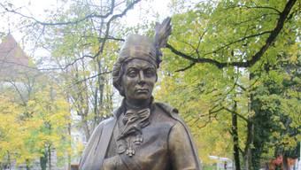 Die Figur von Tadeusz Kosciuszko im Stadtpark.
