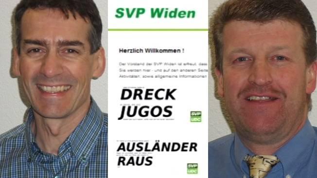Geldstrafen und Bussen für Vorstand der SVP Widen wegen rassendiskriminierender Slogans