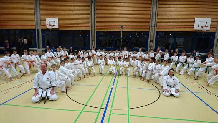 Karate-Kids der Gruppen 2 - 4 der Kampfsportschule Aarau