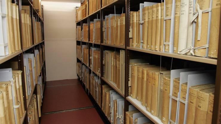 Einblick in die Räumlichkeiten des Bundesarchivs. Archivbild aus dem Jahr 2007. (KEYSTONE/Marcel Bieri)