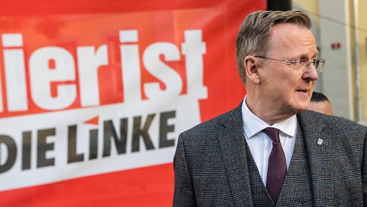 Hat allen Grund zur Freude: Bodo Ramelow von der Linkspartei Thüringen