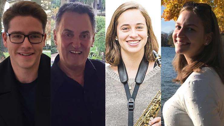 Matthias Zinniker, Max Suter, Phoebe Cueni und Bettina Hänny freuen sich über die überraschende Wahl.