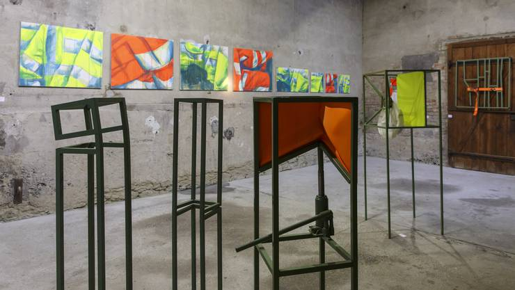 Pierre Alain Müngers Crash-Kunst ist derzeit in der Galerie Alte Brennerei in Unterramsern zu sehen.