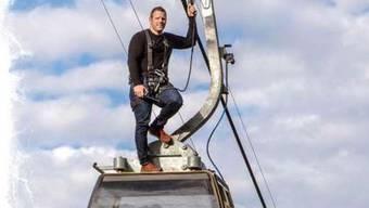 Matthias Glarner: Das Bild entstand Minuten bevor er von der Gondel stürzte. Das ganze Bild sehen Sie weiter unten.