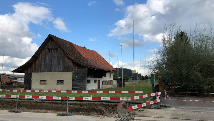 Die bestehende Scheune an der Seetalstrasse wird abgerissen.