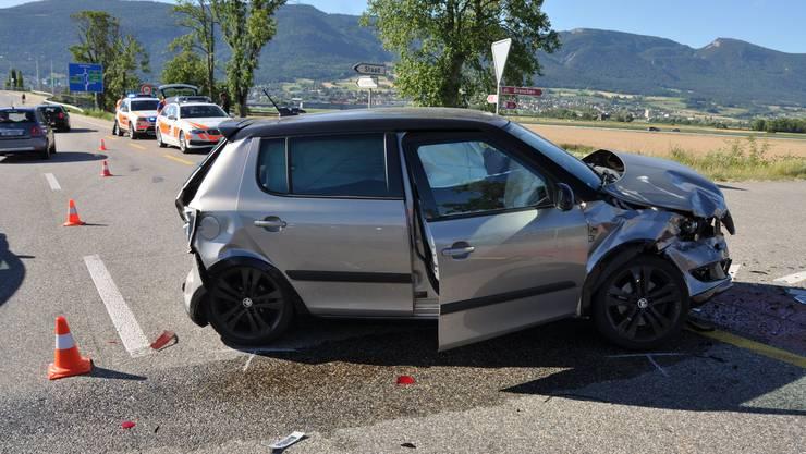 Zum Unfall kam es, als eine Autolenkerin abbiegen wollte und abbremsen musste.