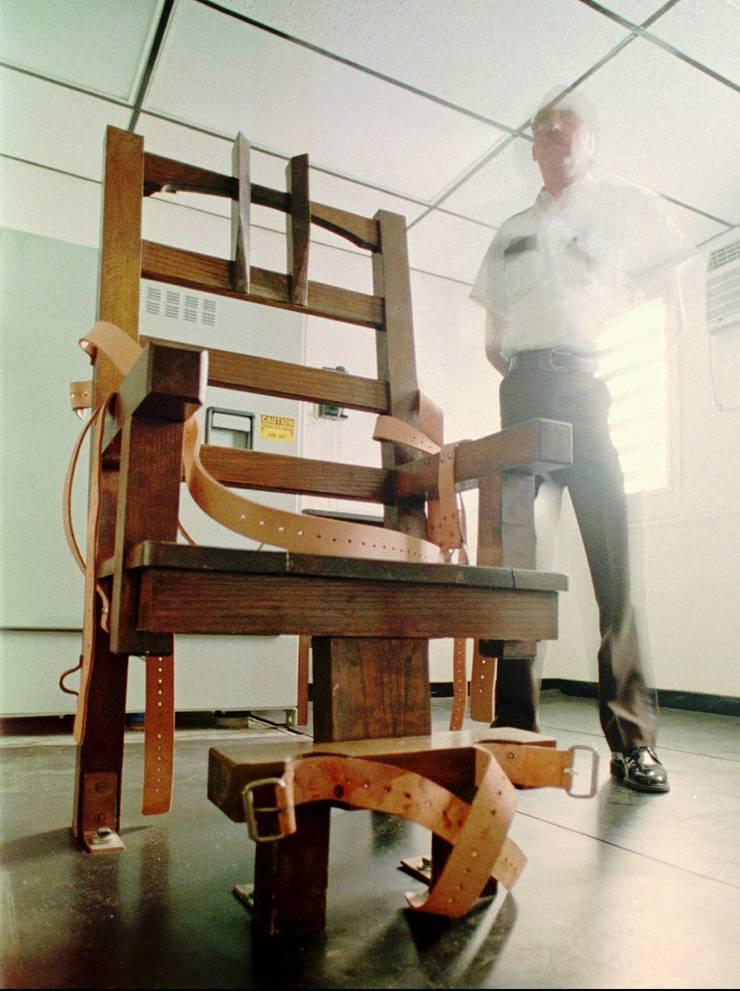 Elektrischer Stuhl im Florida State Prison, USA.
