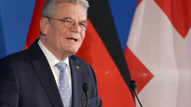 Der deutsche Bundespräsident Gauck am Mittwoch in Bern