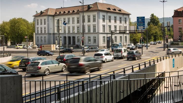 Der Schulhausplatz Baden ist die meistbefahrene Kreuzung im Kanton. Hier hat sich der Vorfall ereignet.
