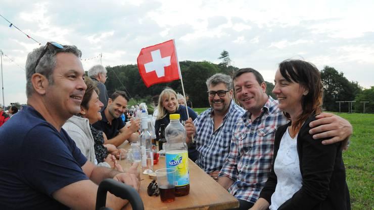 Zum Geburtstag der Schweiz herrscht gute Stimmung auf Hönger