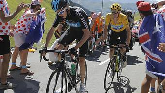 Chris Froome zieht seinen Chef und Leader Wiggins die Berge hoch.