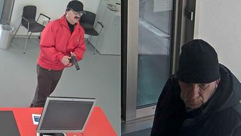 Diese zwei Männer überfielen die Raiffeisenbank in Deitingen. Eine weitere Person wartete im Auto.