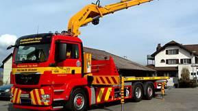 Lastwagenkran (Symbolbild).