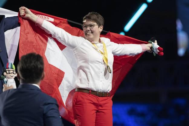 Holt Gold für die Schweiz: Sonja Durrer aus Krens OW.