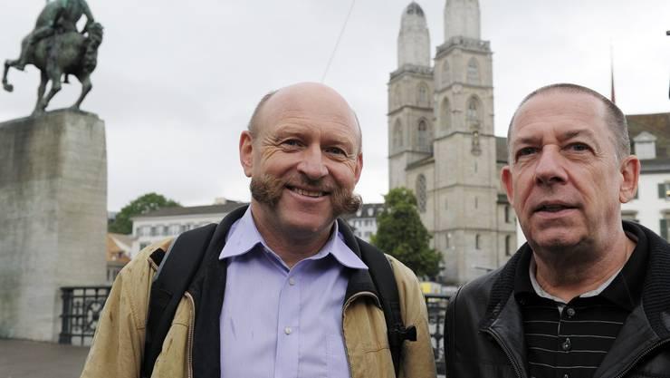 OK-Präsident Robert Kaeser (rechts) und Züri-Fäscht-Geschäftsführer Roland Stahel (links)