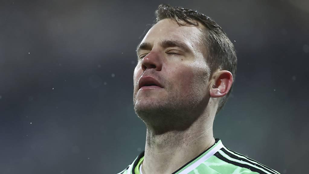 Bayern Münchens Goalie Manuel Neuer musste sich in Kiel geschlagen geben