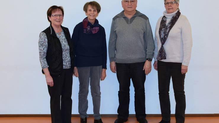 Jubilare v.l.: Rosmarie Scheurer, Vreni Reinhart, Peter und Pia Rudolf von Rohr