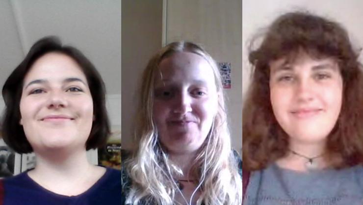 Cybel Dickson, Patricia Hegglin und Zoe Sutter sind die Kandidatinnen der Juso Aargau.