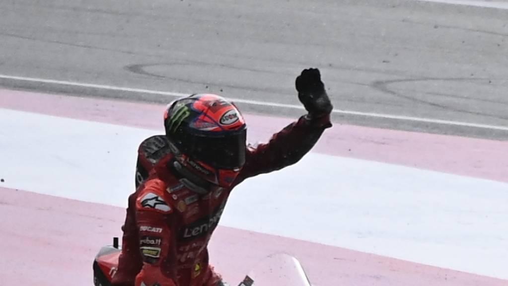 Zum ersten Mal in der MotoGP zuvorderst: Francesco Bagnaia.