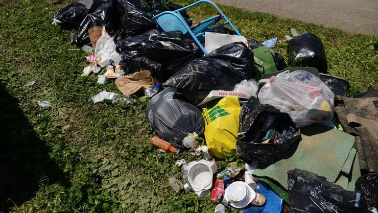 Viel Müll ist übrig geblieben