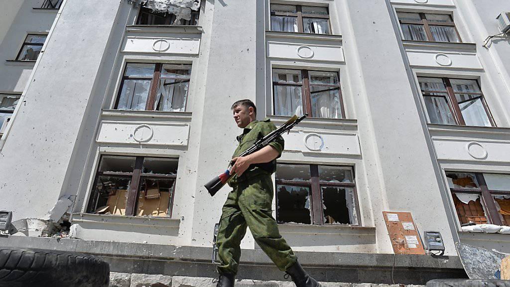 In der Ostukraine wird Stadt Lugansk wieder Schauplatz von Bombenexplosionen. (Archivbild)