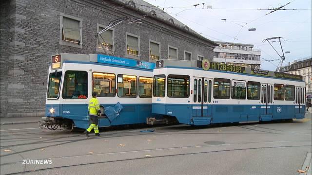 Zusammenprall von zwei 5er-Trams