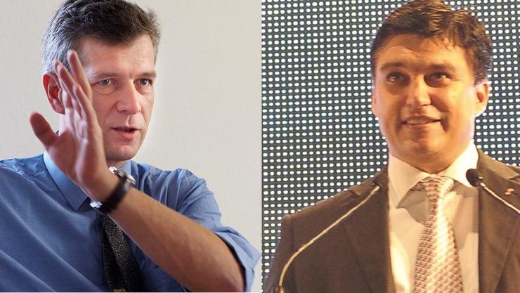 Thomas de Courten (links) leidet unter seinem alten Image, und Wirtschaftskammer-Direktor Christoph Buser hat sich ein neues Image verpasst.