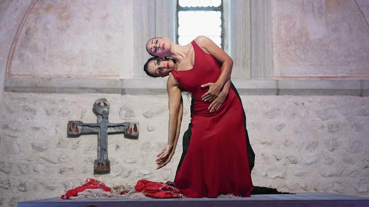 Die Tanzcompagnie Flamencos en route führte das Publikum von einem Raum in den nächsten.