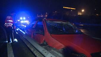 Tödlicher Unfall an A1-Ausfahrt Aarau Ost: Bilder von der Unfallstelle.
