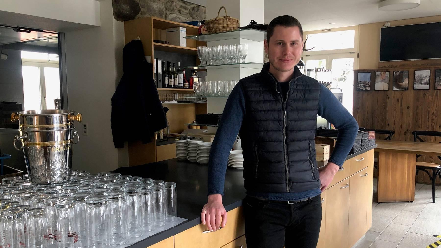 Patrick Moser, Wirt vom Restaurant Unterlachenhof in Luzern