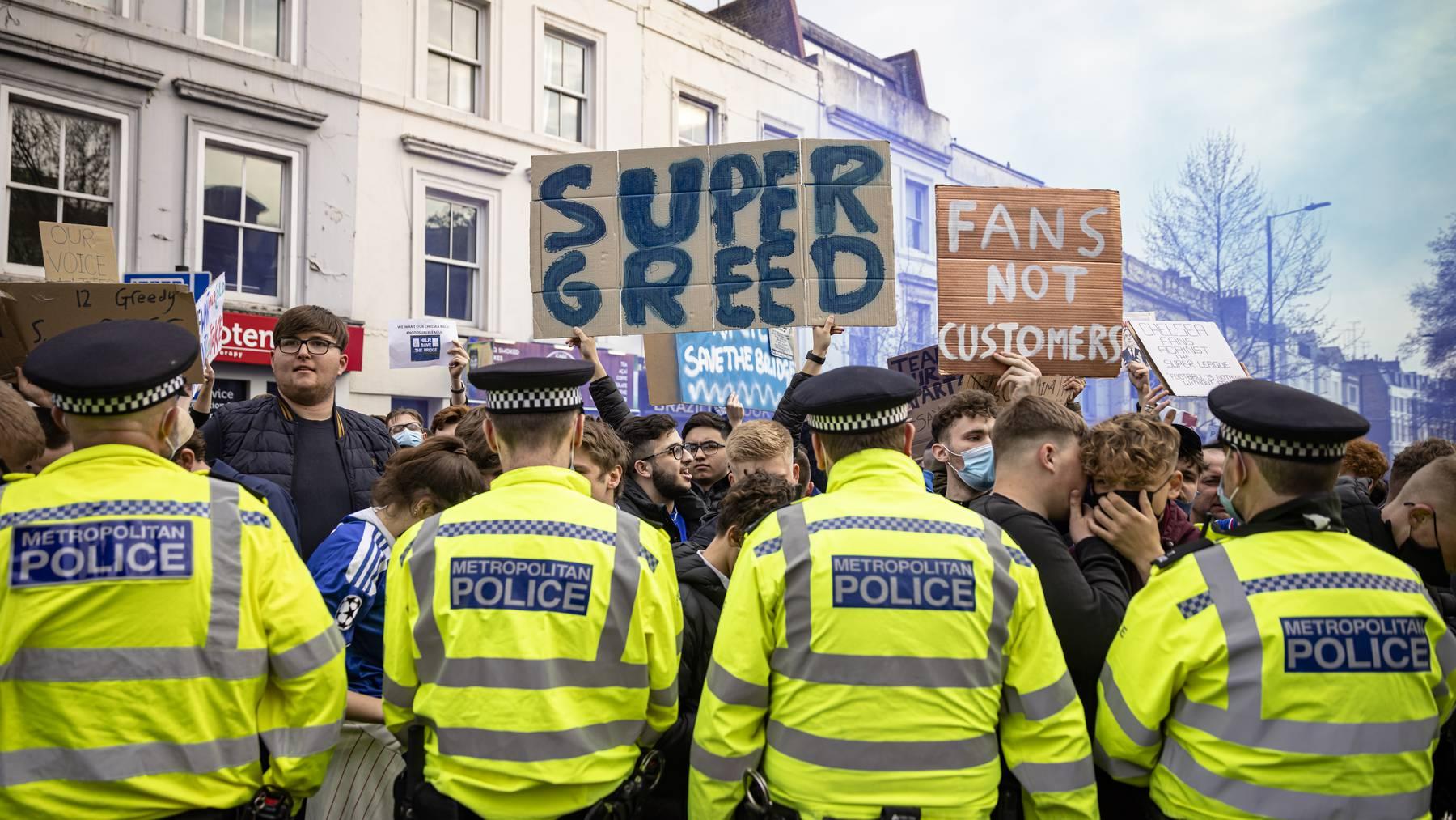 fans super league proteste