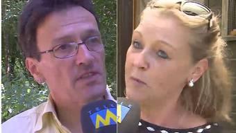 Nicht einer Meinung: Naturschützer Johannes Jenny und Tierschützerin Astrid Becker.