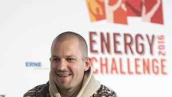 Rapper Stress Anfang April beim Start der Energy Challenge 2016. Er selber hätte ein sehr gutes Energieprofil...wenn nur die Liebe nicht wäre. (Archivbild)