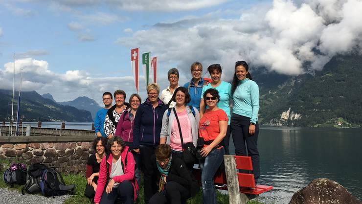 Das Gruppenfoto vor der Abfahrt nach Quinten