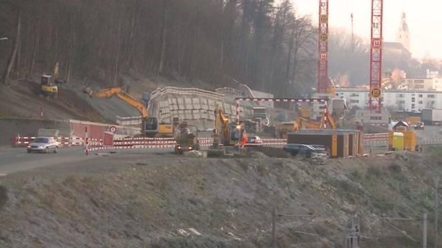 Gigantische Infrastruktur für Eppenbergtunnel-Baustelle