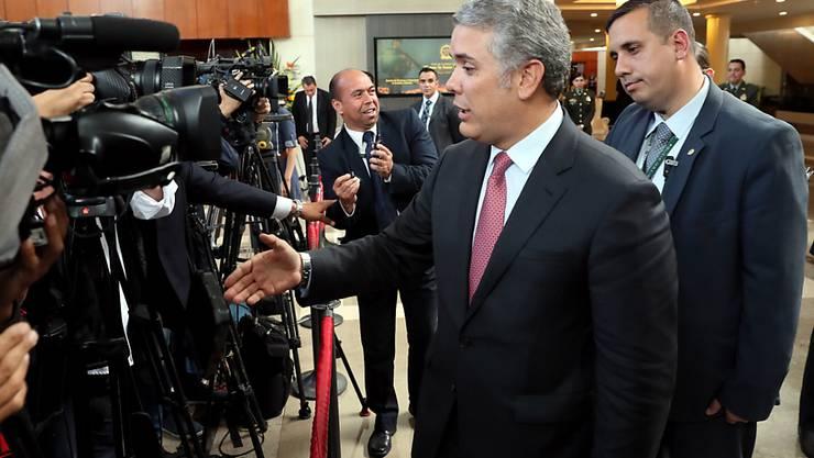 Der neue Präsident Kolumbiens Iván Duque hat sich am Dienstag beim Nachbarland Venezuela über Grenzverletzungen beschwert.