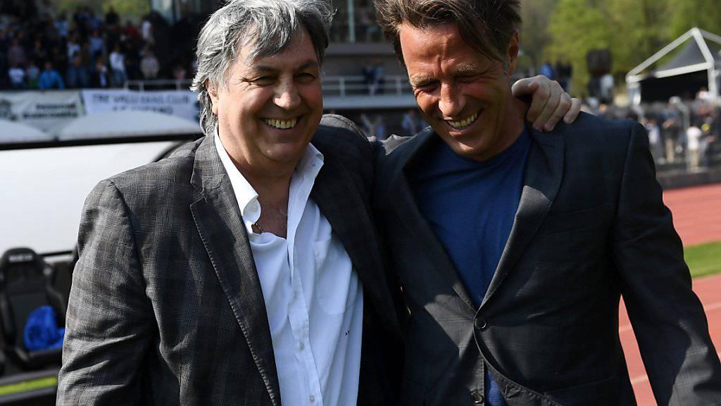 Luganos Erfolgsduo: Trainer Paolo Tramezzani (rechts) und Präsident Angelo Renzetti,