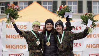 Monica Biedermann (r.) belegte den guten 3. Rang.