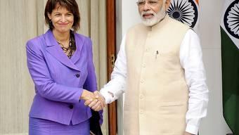 Bundespräsidentin Doris Leuthard und Indiens Premierminister Narendra Modi wollen die Zusammenarbeit im wirtschaftlichen Bereich vertiefen.