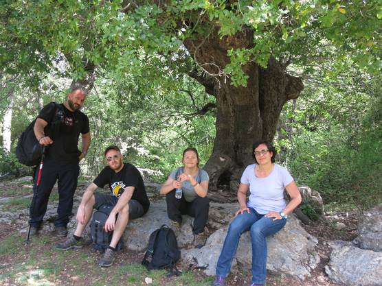 In der Freizeit wanderte Mirjam Markwalder (rechts) auch im Libanon