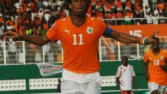 Schoss den dritten Treffer beim Sieg der Elfenbeinküste gegen Burkina Faso: Didier Drogba