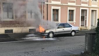 Am Mittwochnachmittag kam es in Münchenstein zu einem Fahrzeugbrand.