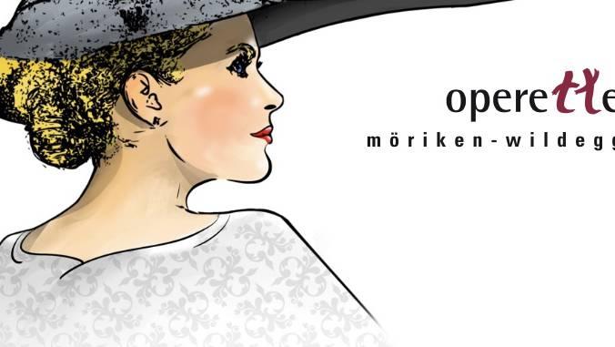 """Plakat zur Oper """"Die lustige Wittwe"""""""