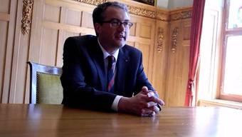 Remo Ankli (FDP) nach seinem Einzug in die Solothurner Regierung